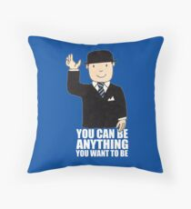 MR BENN KIDS CHILDRENS CULT TV 70'S 80'S RETRO CARTOON BBC SLOGAN FUNNY Throw Pillow