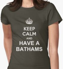 Keep Calm and Have A Bathams BEER ALE PINT FUNNY SLOGAN BIRTHDAY Womens Fitted T-Shirt