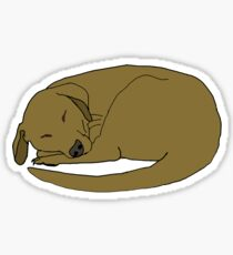 Sleepy Dog Sticker