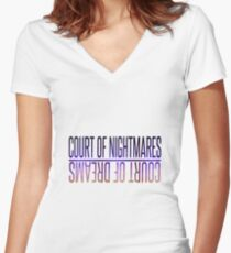 court of thorns Women's Fitted V-Neck T-Shirt