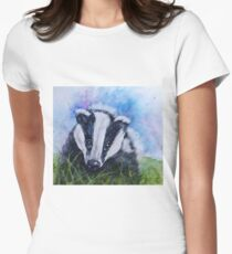 Beautiful Badger - wildlife Womens Fitted T-Shirt
