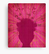 Surreal Head with Butterflies Canvas Print