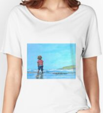 I Love the Beach  Women's Relaxed Fit T-Shirt