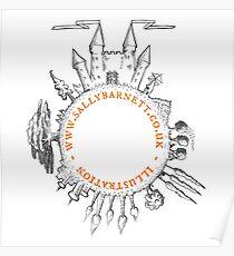 Sally Barnett logo Poster