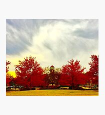 Fall Clock tower Photographic Print