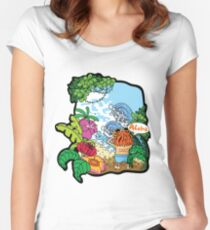 Lost in the tropical island Women's Fitted Scoop T-Shirt