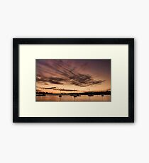 River Sunset Framed Print