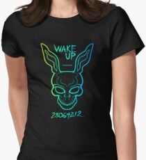 Donnie Darko - Frank Wake Up!! Womens Fitted T-Shirt