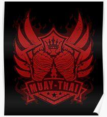Muay Thai Wing of The Winner  -Thailand Martial Art Scratch T-shirt Poster
