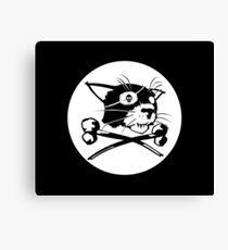 Pirate Cat Flag Canvas Print