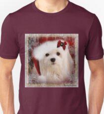 Snowdrop the Maltese at Christmas T-Shirt