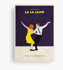 La La Land Alternative Minimalist Poster Canvas Print