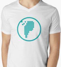 Digital Meat Logo Men's V-Neck T-Shirt