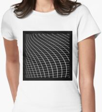 Grid Flow: Void Womens Fitted T-Shirt