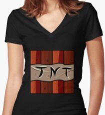 TNT Minecraft Women's Fitted V-Neck T-Shirt