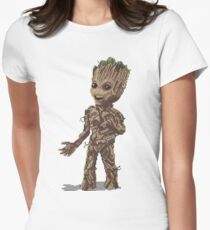 Baby Groot Womens Fitted T-Shirt
