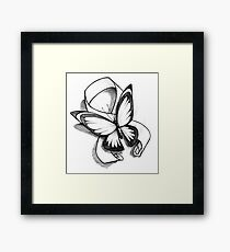 Butterfly Ribbon  Framed Print