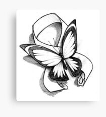 Butterfly Ribbon  Canvas Print