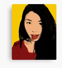FUNNY GIRL - YELLOW Canvas Print