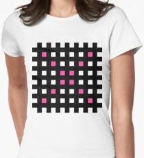 Pink Hatch Womens Fitted T-Shirt