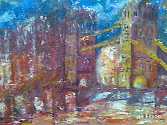 london bridge in flames by gailkitson