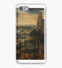 Lucas Gassel A MOUNTAINOUS LANDSCAPE WITH THE TEMPTATION OF CHRIS iPhone Case/Skin