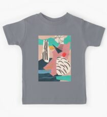 abstract collage with embroidery Kids Tee