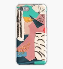 abstract collage with embroidery iPhone Case/Skin
