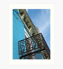 Blue Sky and Building Art Print
