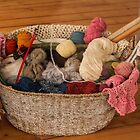 1255 Grandma's Knitting Basket by DavidsArt