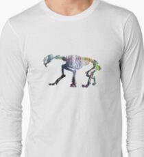Smilodon Skeleton Long Sleeve T-Shirt
