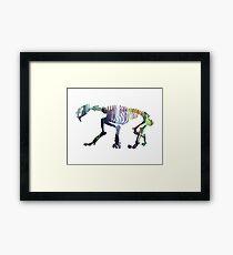 Smilodon Skeleton Framed Print