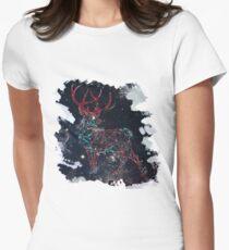 Celestial Deer Womens Fitted T-Shirt