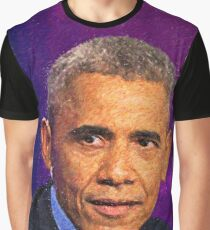 Abstract Portrait of President Barack Obama 8 Graphic T-Shirt