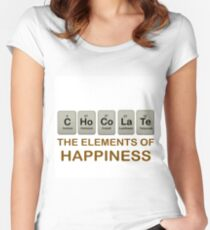 CHOCOLATE - C Ho Co La Te: ELEMENTS OF HAPPINESS Women's Fitted Scoop T-Shirt