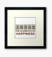 CHOCOLATE - C Ho Co La Te: ELEMENTS OF HAPPINESS Framed Print