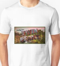 'Greetings from Twin Peaks' Postcard Unisex T-Shirt