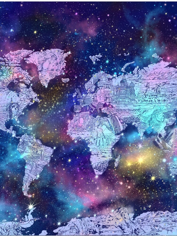 Weltkarte von BekimART