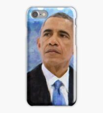 Abstract Portrait of President Barack Obama 30x30 10 iPhone Case/Skin