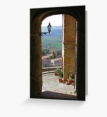 Pienza in Tuscany Greeting Card
