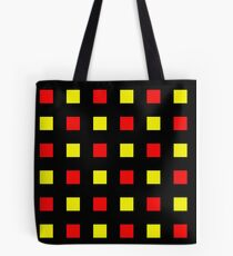 Red Yellow Hatch Tote Bag