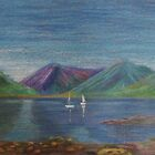 Loch Leven, Oil Pastel Painting by lezvee