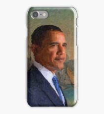 Abstract Portrait of President Barack Obama 34 iPhone Case/Skin