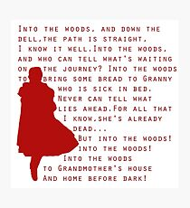 Into The Woods: Little Red Riding Hood  Photographic Print