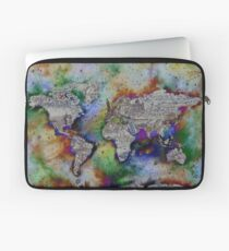 World map wallpaper laptop sleeves redbubble world map laptop sleeve gumiabroncs Gallery