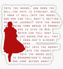Into The Woods: Little Red Riding Hood  Sticker