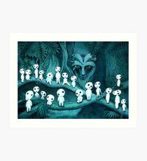 Studio Ghibli's - Kodama and the Forest Spirit Art Print