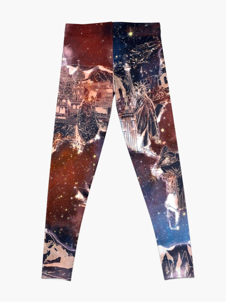 Alternative Ansicht von Weltkarte Leggings