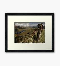 Rusty old fence at the Conor Pass Framed Print