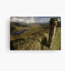 Rusty old fence at the Conor Pass Canvas Print